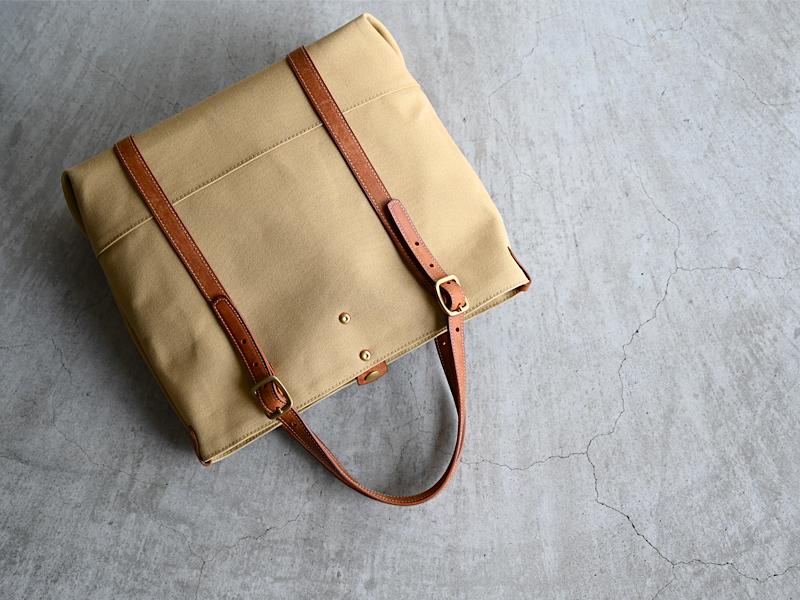 帆布と革のトートバッグ CPTB-01